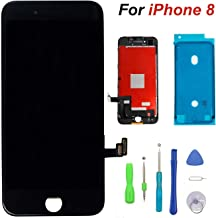 for iPhone 8 Screen Replacement LCD Display & Touch Screen Digitizer Replacement Full Assembly Set with 3D Touch and Free Tools (Black)
