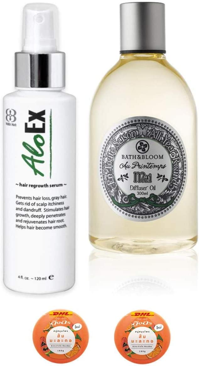 Ranking TOP4 Extra Set AloEx Hair Regrowth 120ml Fall Serum Stimula Cheap mail order sales Anti