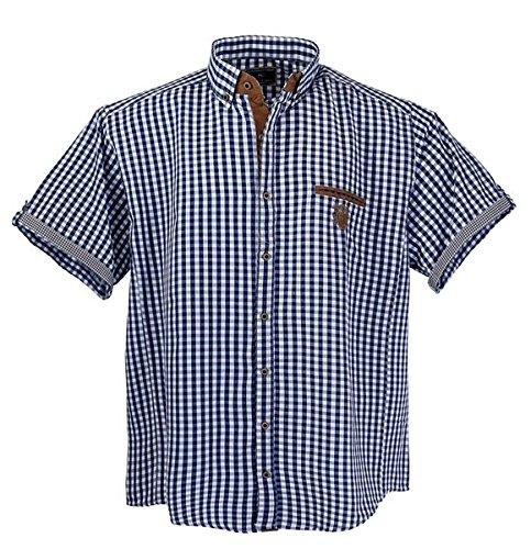 Lavecchia Übergrössen !!! Schickes Kurzam-Hemd 1129 in Blau/Weiß 5XL
