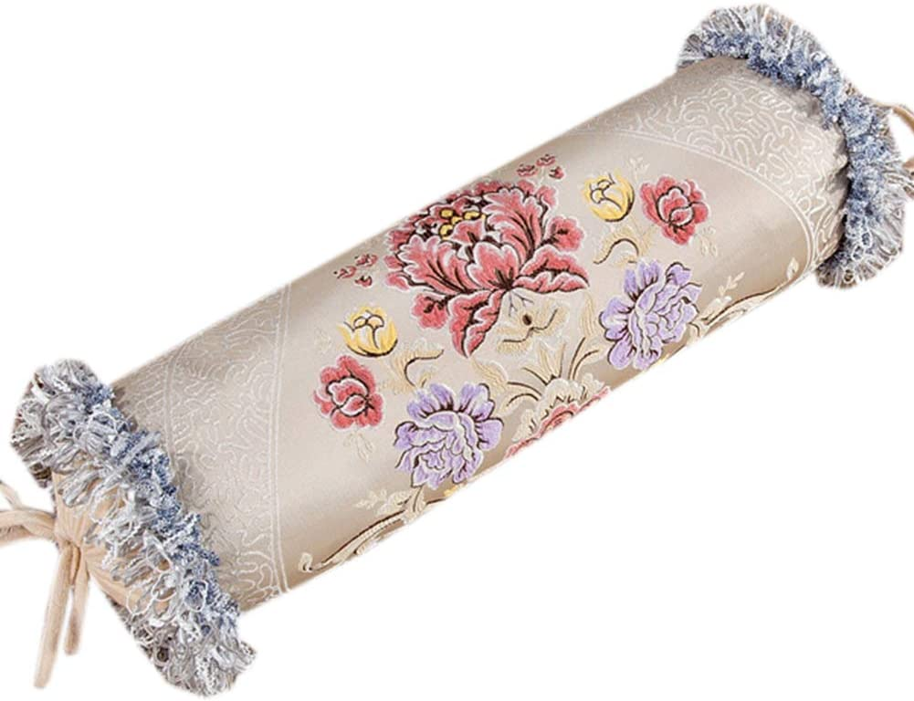 At the price Luxurious Store Cervical Bolster Pillow with Nec Cylinder Tassels Long