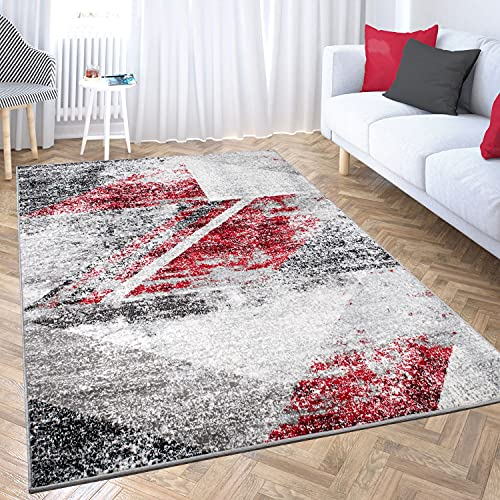 VIMODA Tapis design pour salon - Motif géométrique - Aspect chiné - Dimensions : 120 x 170 cm