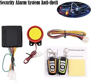 TLU-Kaxu - 12V Motorcycle Scooter Car Alarm System Anti-theft Remote Engine Start Theft Protection Motor Alarm System