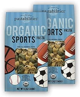 Pastabilities Organic Kids Sports Pasta, 12 oz. (Pack of 2)