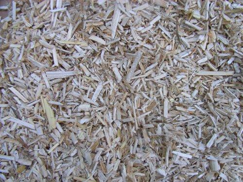 Mulch Schäben aus 100 % Hanf, 45 Liter, (EUR 0,26/Liter), Hanfeinstreu, Einstreu geeignet als Unkrautschutz, Winterschutz, Pflanzenschutz, Schneckenschutz und Düngemittel, 100% biologisch abbaubar