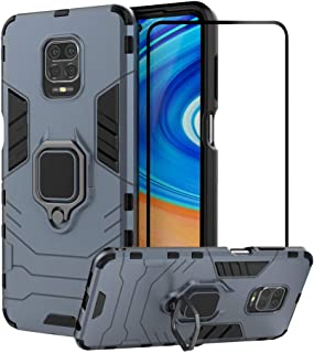2ndSpring Case for Xiaomi Redmi Note 9S / Note 9 Pro/Note 9 Pro Max with Tempered Glass Screen Protector,Hybrid Heavy Duty...