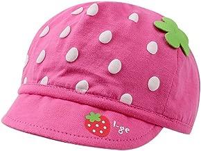 WeddingPach Toddler Infant Baby Hat Newborn Boys Girls Beanie Organic Cotton Cap with Brim for Sun Wind 0-3Months