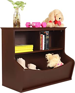 CAP LIVING Children Toy Storage Organizer, Open Storage Cubby, Multifunctional Book and Toy Storage Cabinet, Book and Toy Sto