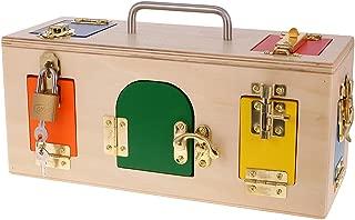 Fenteer Montessori Matemático Hardware de Madera - Cajas Pequeñas Regalos