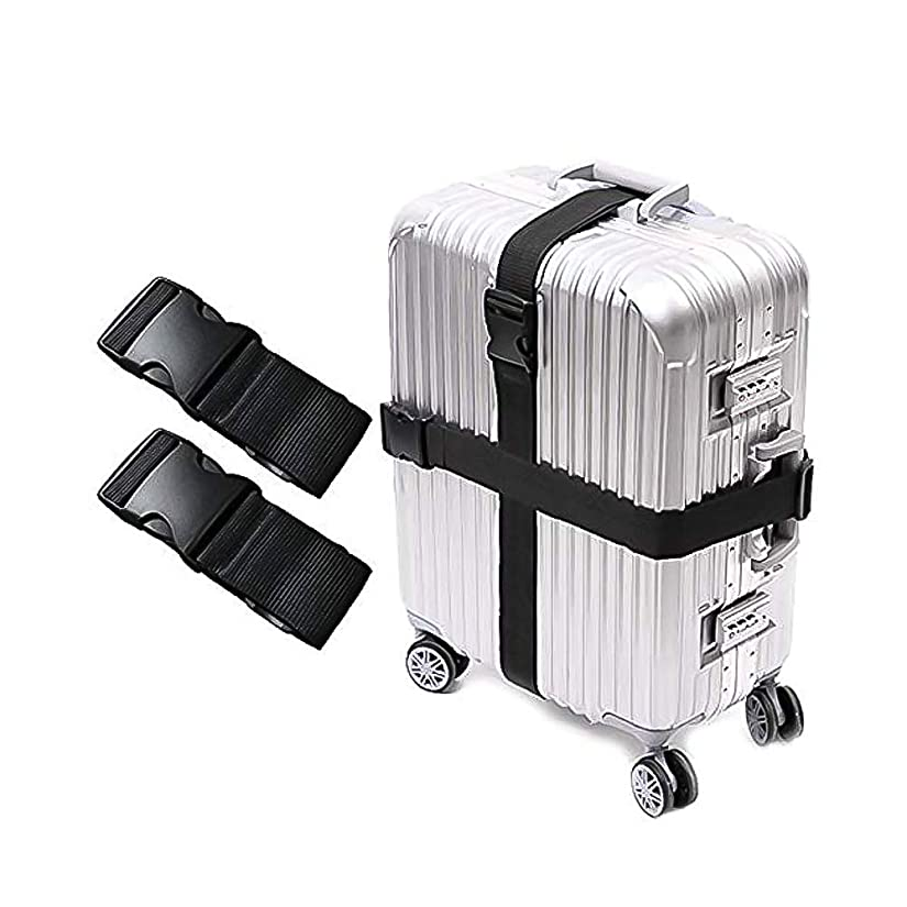 切手下位精巧な4本セット ブラック調節可能 荷物固定バンド 多用途 運搬用荷締めベルト スーツケースベルト