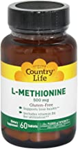 Country Life - L-Methionine, 500 mg with B-6-60 Tablets