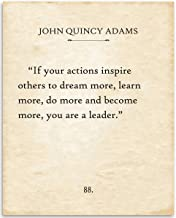 John Quincy Adams - If Your Actions - 11x14 Unframed Typography Book Page Print - Great Gift for Book Lovers, Also Makes a Great Gift Under $15