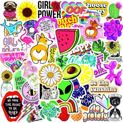 Laptop Stickers (50 Pack), Vinyl Stickers for Adults, Water Bottle Stickers, Cute Stickers for Laptop, VSCO Stickers to Decorate Your MacBook or Hydro Flask