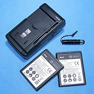 4-in-1 New 2X 2100mAh Battery Universal Home USB/AC Charger Screen Touch Pen for Virgin Mobile ZTE Reef N810 Cellphone