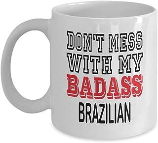 11oz White Mug Brazilian Mug - Gift Don't Mess With My Badass Rabbits Lover Funny Mug Gift Coffee Cup Idea,am3824