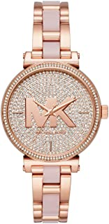 Women's Sofie Quartz Watch with Stainless-Steel-Plated Strap, Rose Gold, 14 (Model: MK4336)