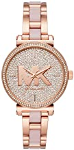 Michael Kors Women's Sofie Quartz Watch with Stainless-Steel-Plated Strap, Rose..