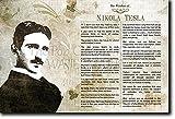 Die Weisheit von Nikola Tesla Kunstdruck Hochglanz Foto