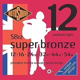 Rotosound SB12 - Juego de cuerdas para guitarra acústica de fósforo/bronce, 12 16 24 32 44 54