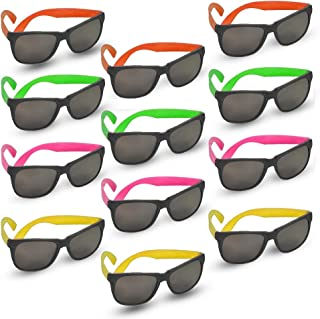 ArtCreativity Neon Sungl for Kids, Set of 12, Bright Assorted Colors, Cool Birthday and Pool Party Favors for Boys and Gir...