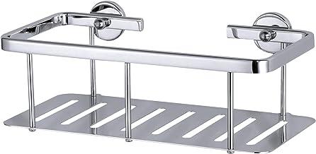 tesa Aluxx doucherek, hoogglans verchroomd aluminium, zelfklevend, 92 mm x 250 mm x 125 mm