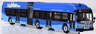 New Flyer Excelsior Bus Articulated 1/87 Scale- HO Scale Big Blue Bus-Santa Monica, California New! Limited Edition!