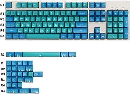 LXH-SH Teclado Cap Disparo Azul Marino tecla Clave SA Doble ...