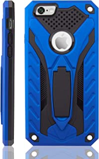 Techdwat Static Series Compatible with iPhone 6 / 6S Case Military Grade 12ft. Drop Tested with Built in Kickstand (Blue/Black)