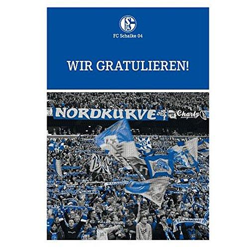 """Grusskarte Karte """"Wir gratulieren"""" FC Schalke 04 S04"""