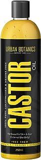 UrbanBotanics® Cold Pressed Castor Oil for Hair Growth, Skin Care, Moisturising Dry Skin, Nails, Eyelash - Virgin Grade - Organic, Hexane Free - 250ml
