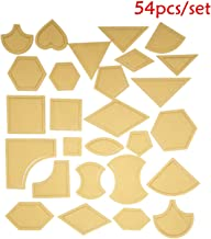 HAN SHENG 108 Pcs Handmade Mixed Quilt Templates Clear Acrylic Pattern Stencil Template DIY Tool for Leather Craft Quilting Sewing Tool (54 Pcs/Set)