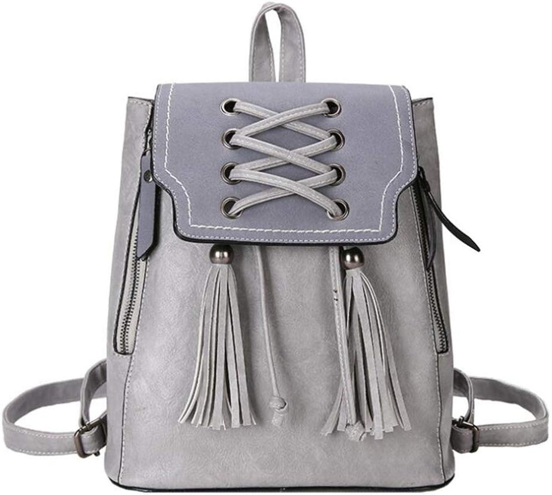 Sxuefang sac à dos en Cuir Femme Women Leather Backpack Women Leather Backpack Girls Backpack Bag with a Pure color Small Bag Travel Shopping Bags 22x25x16x29cm