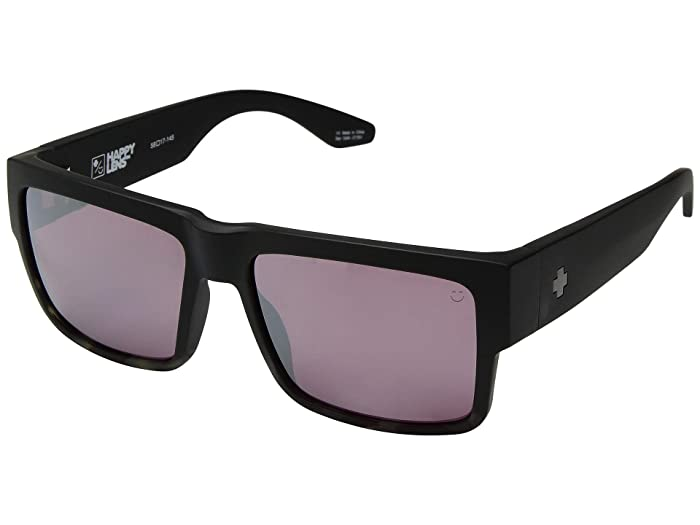 Spy Optic Cyrus (Matte Black/Smoke Tort Fade/Happy Rose/Silver Spectra Mirror) Sport Sunglasses