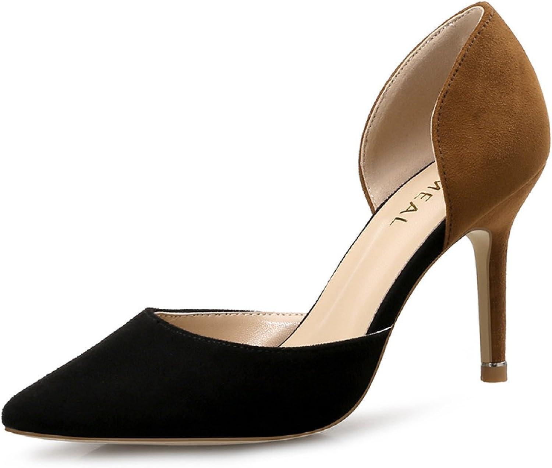Frühling Und Sommer Koreanische Version Hohl Arbeitsschuhe High Heels Fein Mit Beruf Spitze Einzelne Schuhe