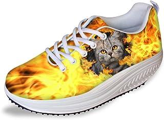 chaqlin Chaussures à plateforme augmentant la hauteur - Pour femme