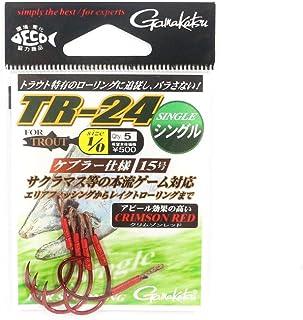 がまかつ(Gamakatsu) シングルフック TR-24 1/0号 5本 クリムゾンレッド 67884