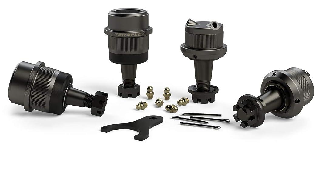 TeraFlex 3442022 JK Dana 30/44 Complete Knurled Ball Joint Set