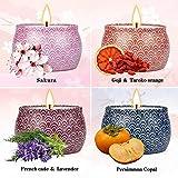 WeiLi Aromatherapiekerzen-Geschenkset Aromatherapiekerzen für Frauen Lindern Sie Stress, rüsten Sie große Dosen mit Sojakerzen und duftendem Lavendel auf
