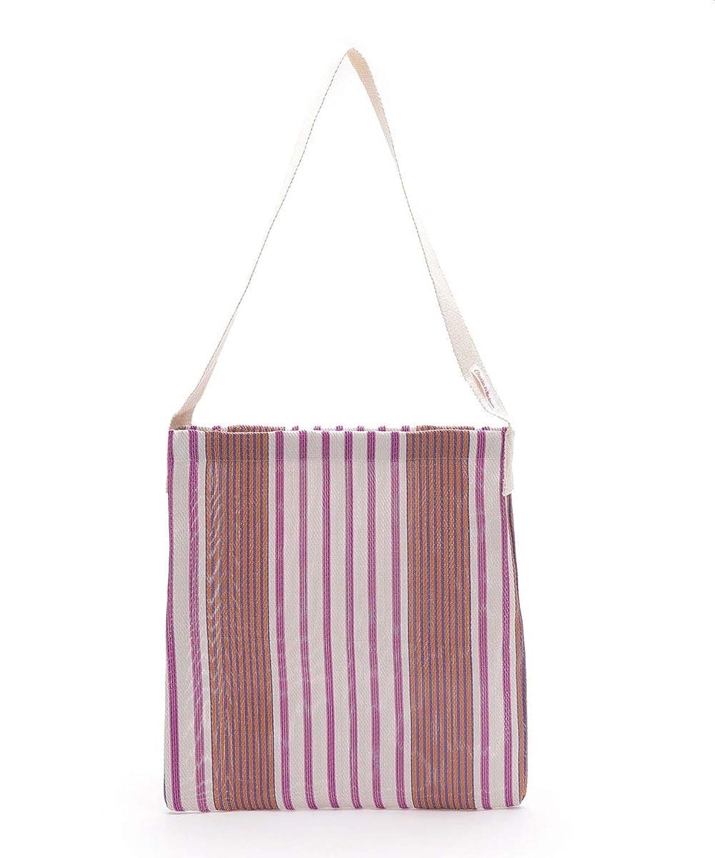 公どこ百ナノ?ユニバース(nano?universe) Market Bag Stripe D
