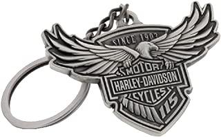 HARLEY-DAVIDSON 115th Anniversary Key Chain Custom Shaped, Silver HDKD115
