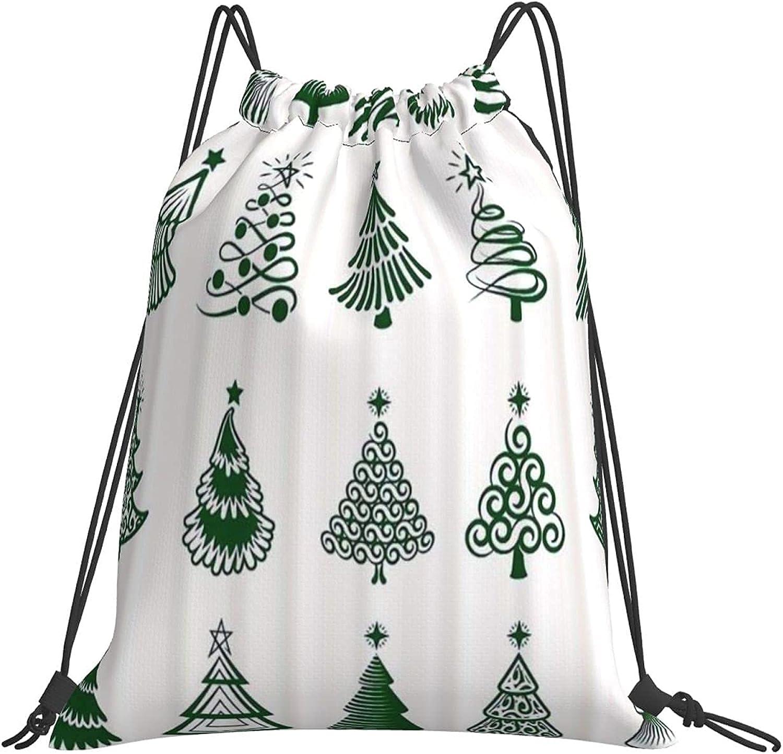 Gym Bag Cheap bargain Drstring Bags Christmas Store WhiteSports Bea Trees Travel