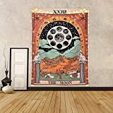 Tarot Tapestry The Moon Tarot Tapetsry Tapetsry Medieval Europe Mysterious Tapices con clavos sin...