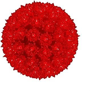 Novelty Lights SS100-RE Commercial Grade Indoor/Outdoor Christmas Starlight Sphere, Red, 100 Light, 7.5