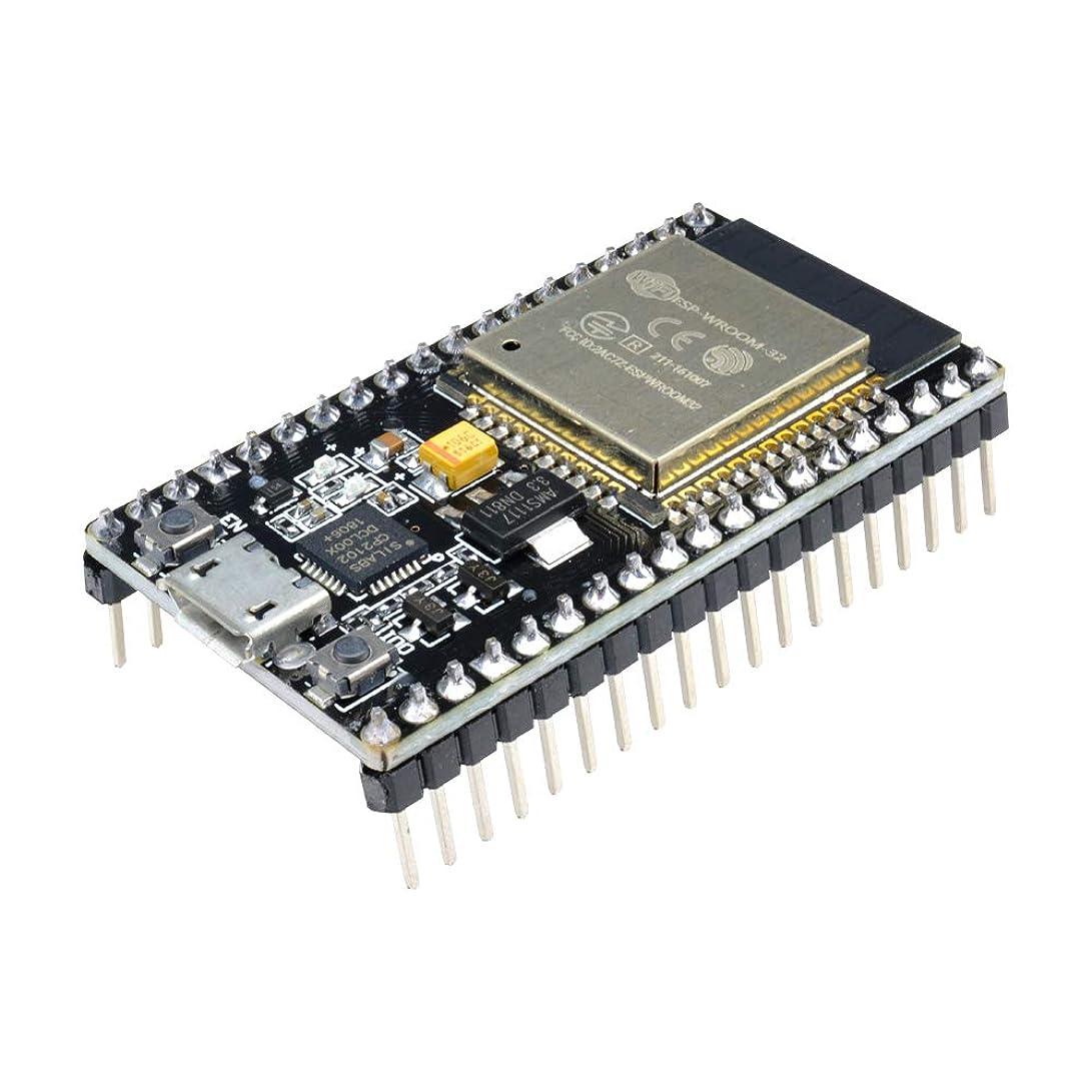 ジョットディボンドンテンション飾るAideepen ESP-32 ESP-32S NodeMCU開発ボードBluetoothワイヤレス2.4GHz WiFiデュアルコアCP2102アンテナモジュール (黒のピンヘッダー)