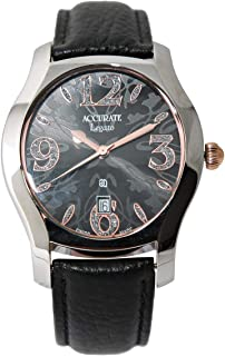 Casual Watch for Men by Accurate, Multi Color, Oval, AMQ1757L