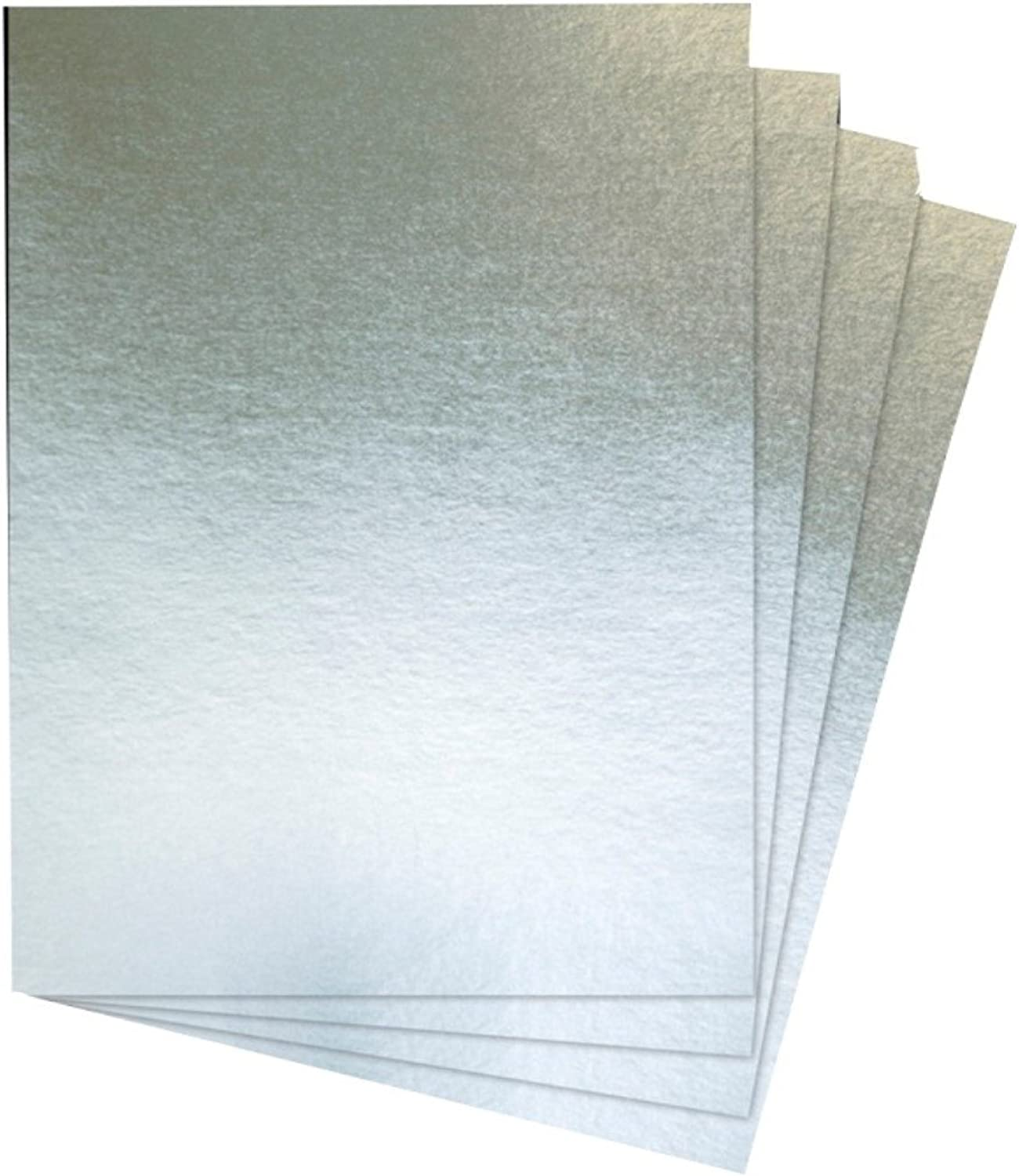 House of Card & Paper A3 240 GSM Foil Card  Silver (Pack of 30 Sheets)