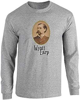 Wyatt EARP Western Portrait Long Sleeve T-Shirt