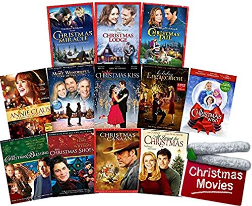 Hallmark-Thomas Kinkade-Norman Rockwell 12-Movie Christmas DVD Collection: Annie Claus/Holiday Engagement/Most Wonderful Time/Kiss/Wish/Miracle/Lodge/Tail/Blessing/Shoes/Canaan/All I Want for Xmas