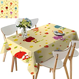 UHOO2018 Square/Rectangle Indoor and Outdoor Tablecloth of imals Restaurant Party,54 x120inch.