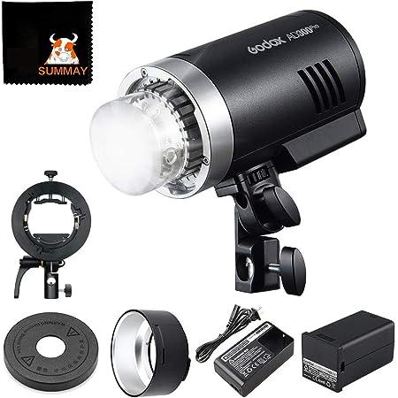 GODOX AD300Pro モノブロックストロボ+S2 ブラケット セット 2.4G ワイヤレス TTL 1/8000sハイスピードシンクロ 2色モデリング5600±100K 0.01-1.8Sリサイクル時間 300フルパワーポップ 12W輝度調整可能 ボーエンズマウント 屋外撮影 ロケ撮影に最適