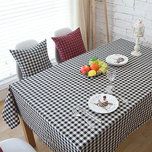 Gloryhonor - Nappe à carreaux pour salle à manger - Rouge et noir - 90 x 90 cm - Décoration d'intérieur, Noir+Blanc, 90*90cm